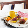 Breakfast in bed — Stok fotoğraf