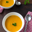 Pumpkin cream soup for two — Stock Photo #35169367