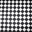 Black and white outdoor tiles on a London sidewalk — ストック写真