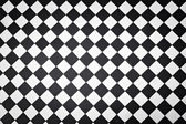 Black and white outdoor tiles on a London sidewalk — Stock Photo