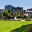 Park in central Luxembourg — Stock Photo