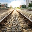 Stockfoto: Railroad in City