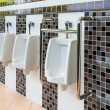 Porcelain Urinals for Cripple and Old People — Stock Photo