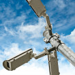 Security Cameras on Blue Sky Background — Stock Photo