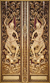 Thai engrave art in public temple — Stock Photo