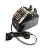 Shabby Outdated Telephone — Stock Photo