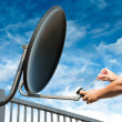 Craftsman Repair Satellite Dish — Stock Photo