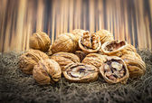 Heap of Walnut — Stockfoto