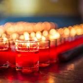 Svíčka ve skle — Stock fotografie