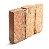 Group of brick isolated — Stock Photo
