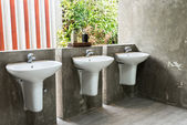 White washbasin — Stock Photo
