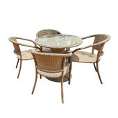 Rattan table and chair — Stock Photo