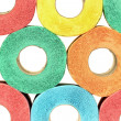 A lot of colorful toilet paper rolls — Stock Photo #48773617