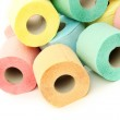 Colorful toilet paper rolls — Stock Photo #48773819