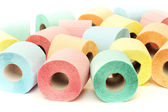 Colorful toilet paper rolls — Stock Photo