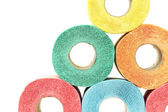 A lot of colorful toilet paper rolls — Photo