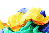 Plastic bags on a white background — Stock Photo