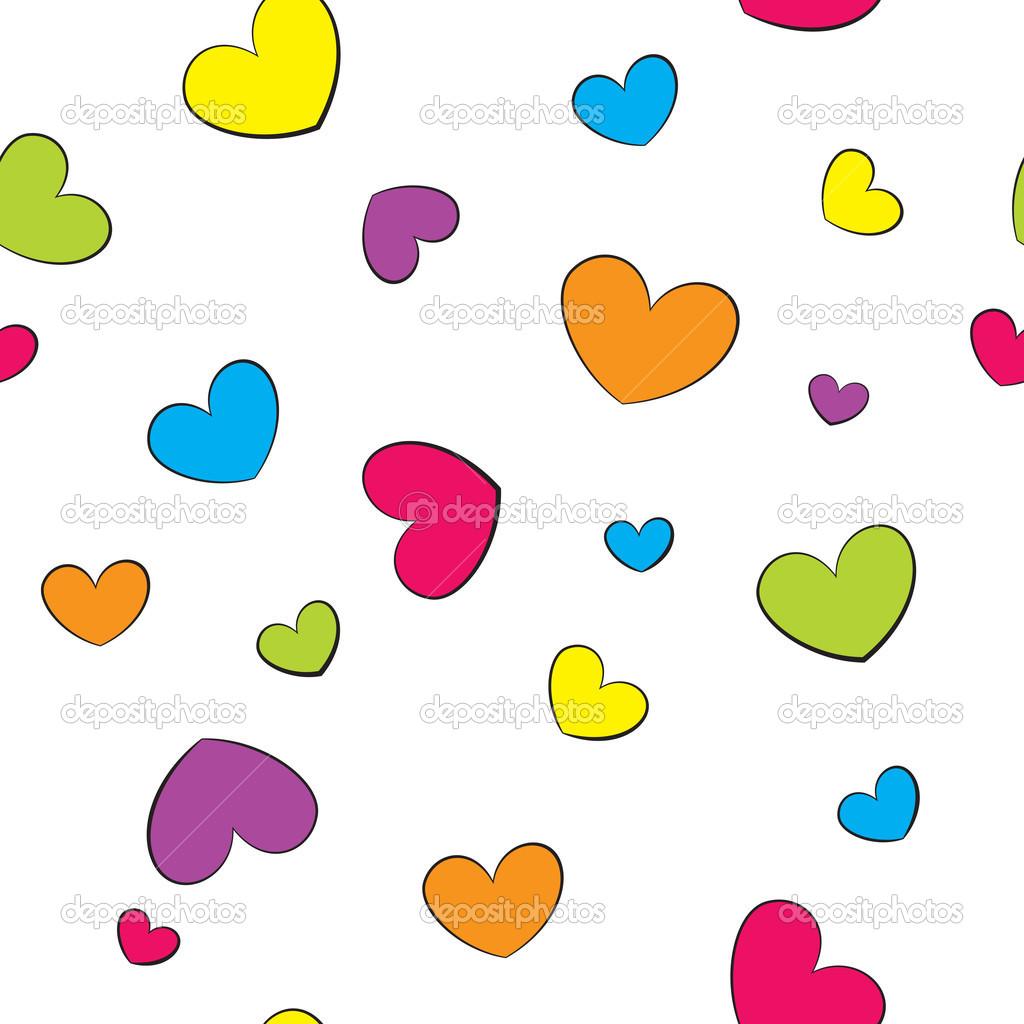 corazones de colores fondo - photo #7