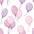Vector seamless pattern with flying balloons — 图库矢量图片 #45896069