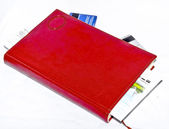 The red note book — Stock Photo