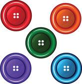 красочные кнопки — Cтоковый вектор
