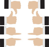 右和左 — 图库矢量图片