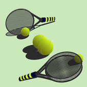 Big tennis — Stock Vector