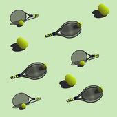Seamless pattern tennisŒ — Vecteur
