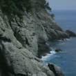 Cliff Rock Coast of Portofino Italy — Stock Video