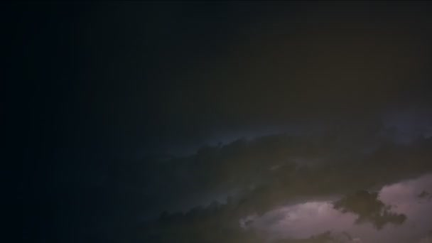 Clignotant laps de temps de tempête de foudre — Vidéo