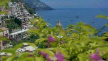 Revealing Chiesa Santa Maria Assunta in Positano Italy — Stock Video