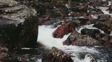 Powerful Flowing Rock Filled River — Stock Video