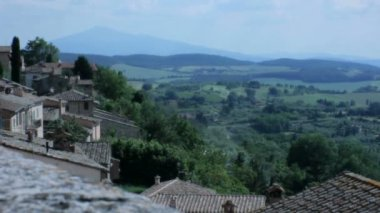 Rooftops of Montepulciano Tuscany Italy — Stock Video