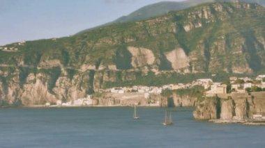 Sunset Bay Sorrento Italy — Vídeo de Stock