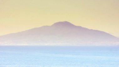Volcano Mount Vesuvius at Sunset — Stock Video