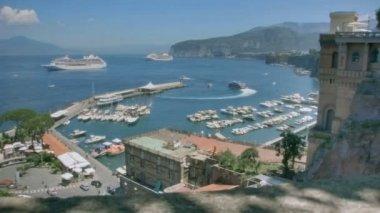 Jetfoil Leaving Marina Piccola Sorrento Italy — Stock Video