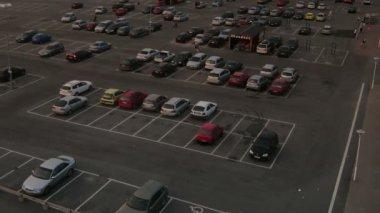 Supermarket Car Park — Stock Video