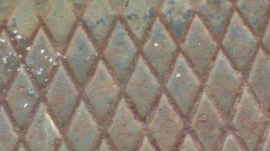 Грязные алмаз ржавый металлический фон — Стоковое видео