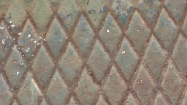 Fondo de metal oxidado sucio diamante — Vídeo de stock