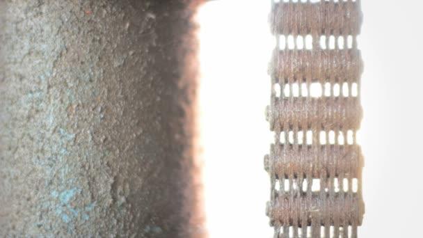 Fondo oxidada cadena corroída industrial — Vídeo de stock