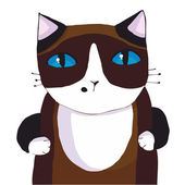 сиамская кошка — Cтоковый вектор