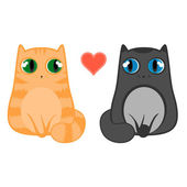 Love cats — Vector de stock