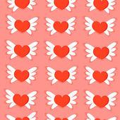 Seamless mönster av hjärtan — Stockvektor