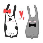 Miluji králíčky — Stock vektor