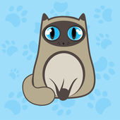 Siamese cat — Stock Vector