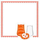 Ilustración de un gato — Vector de stock