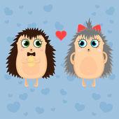 Hedgehogs — Stock Vector