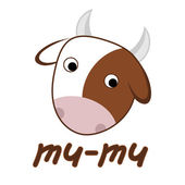 Cow on white background — Stock Vector