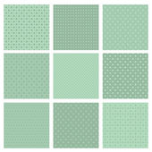 Set of simple geometric seamless patterns — Stock Vector