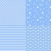 Romantic patterns — Stock Vector